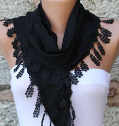 Black  Scarf   - By Fatwoman, $17.00