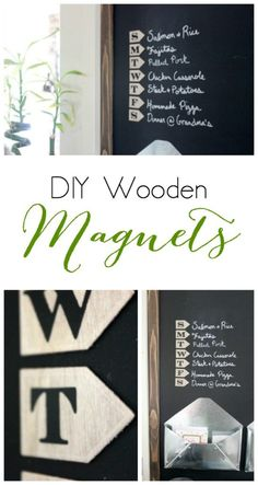 DIY Wooden Magnets f