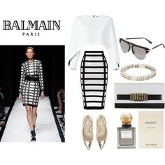 BALMAIN by vanessaeale on Polyvore featuring mode and Balmain