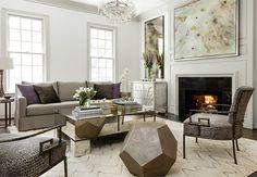 high fashion home contemporary greige living room