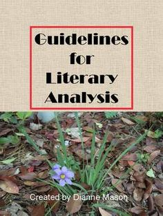 With this eight page lesson, students will understand what a literary analysis is. The handout gives students specific guidelines for writing the literary analysis essay such as write in third person, use present tense, don't give plot summary, etc.   The general guidelines are followed by more specific ones for writing analyses of character, setting, theme, and point of view. $2.50