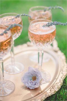pink lavender champagne