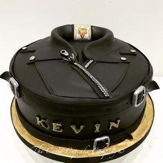 Leather Jacket biker cake by Costa Cupcake Company