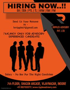 Indore Madhya Pradesh India Apply Jobs in Ripples Advisory Pvt. Indore,Current Job openings in Ripples Advisory Pvt. Hiring Now, We Are Hiring, Apply Job, How To Apply, Current Job, Indore, Job Posting, Resume