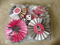 Elvis 1950's themed paper birthday party decorations by cravecakes, $14.00