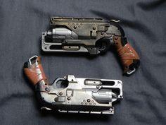 Double Hammershot Nerf Mod, Steampunk Gun, Looks Cool, Hand Guns, Modeling, Cool Stuff, Toys, Ideas, Games