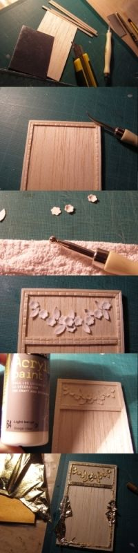 Vamos a aprender a hacer algunos espejos.    Let's know how to make easy miniature mirrors!      El primero, de estilo moderno, está cread...
