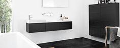 Kvik black and white bathroom