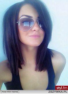 Ohhh, I miss my dark hair. Love Hair, Great Hair, Medium Hair Styles, Short Hair Styles, Hair Color And Cut, Up Girl, Hair Today, Hair Dos, Hair Lengths