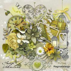 Scrapbooking TammyTags -- TT - Designer - Regina Falango,  TT - Item - Kit or Collection, TT - Kit Name - Green Valentine