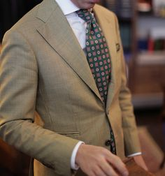 bntailor:  Hound Tooth Check Jacket & Errico Formicola Tie All at B&Tailorshop