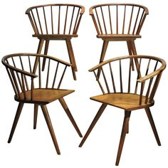 Modernist Windsor Chairs by Russel Wright for Conant Ball-Grandpa Scott grew up with these chairs (and the table, hutch, and bedroom set) I want sooo much!