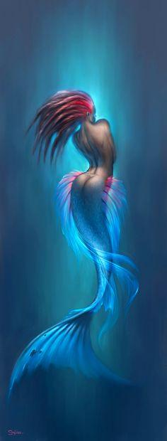awesome artwork of mermaids. yes, mermaids.