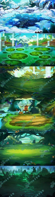 419 游戏原画资源 场景素材 2D资源...