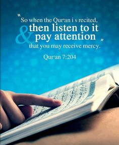 Listening to the Holy Quran
