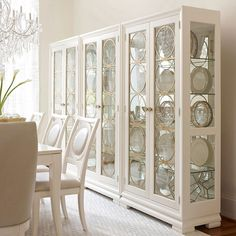 Pearl Color, Luxury Living, Accent Colors, China Cabinet, Luxury Homes, Living Spaces, Custom Design, Dining Room, Tower