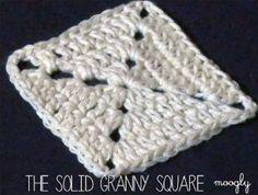 Solid Granny Square   AllFreeCrochetAfghanPatterns.com