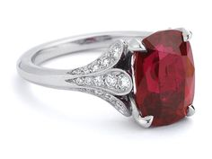 ruby diamond ring unique engagement rings