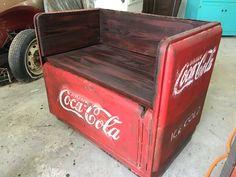 Old coke cooler turned bench