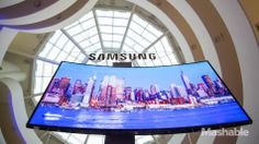 Samsung has announced the availability of the curved Ultra HD TVs it unveiled at CES 2014.