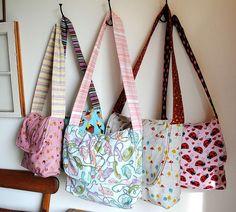 La technique, comment fabriquer un sac en bandoulière par soi même créer, réaliser et faire par soi même un sac en bandoulière en tissu, en cuir, en toile.