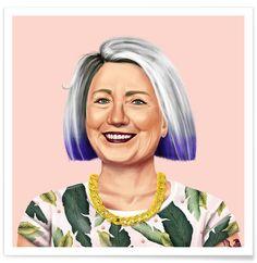 Hillary en Affiche premium par Amit Shimoni Illustration | JUNIQE