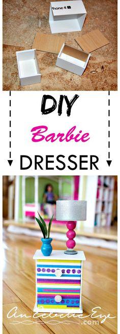 an-eclectic-eye-diy | DIY Barbie Dresser & Armoire