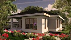 Model 104mp | Case de top Three Bedroom House Plan, House Plans One Story, One Story Homes, Story House, Design Case, Bed Design, House Design, Home Fashion, Planer