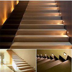 Perfect Details zu x w LED Wandleuchte Treppe Licht Stufen Einbau Strahler Aufgang Lampe Spot Alu