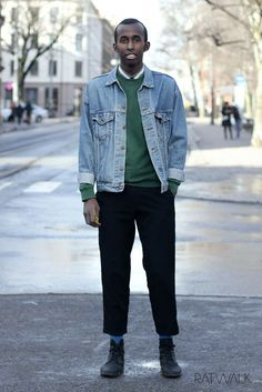 Street style // Men's fashion, outfit, ootd, high water, denim, levi's