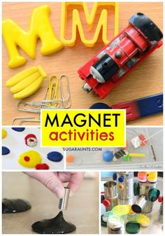 Magnetic activities for kids.  My kids would love these magnet activities!