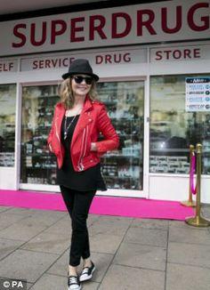 #Superdrug50 Singer Lulu visits Superdrug in Putney High Street, London to mark 50 years of the brand...