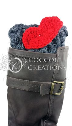 Grey Pink Valentine Kiss Boot Cuff sold by Coccole Creations on Esty  #Valentine #crochet #bootcuffs #bootsocks #coccolecreations