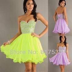 vestidos de graduacion de primaria color lila corto de graduación vestidos  de neón de color lila