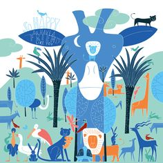 Murals for the Emma's Children Hospital Amsterdam by Duvivier Jean-Manuel, via Behance