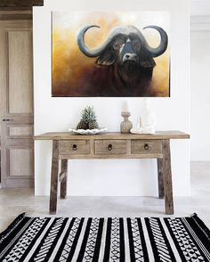 Peinture huile sur toile,grand format. Grand Format, Entryway Tables, Furniture, Home Decor, Oil On Canvas, Decoration Home, Home Furnishings, Interior Design, Home Interior Design