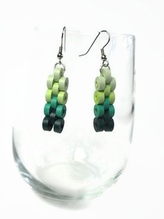 Ombre earrings Quilling minecraft dangling by Herpaperparadise