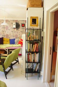 Herra Puukenkä ja Neiti Räsymatto Ladder Bookcase, Loft, Shelves, Bed, Furniture, Home Decor, Shelving, Decoration Home, Stream Bed