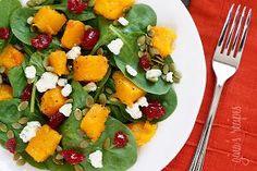 Warm Winter Spinach Salad