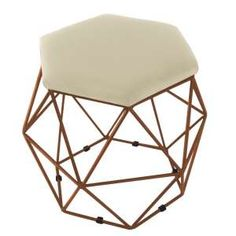 Puff Pastilha Caramelo Puff, E Design, Vanity Bench, Stool, Furniture, Toque, Home Decor, Products, Furniture For Living Room