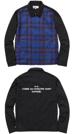 Supreme Comme des Garcons SHIRT Work Jacket BL _45360-2015.09