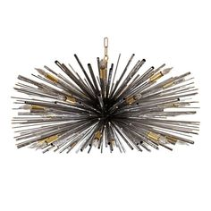 "Designers original ""Supernova"" Chandelier by Lou Blass in Textured Steel - I love the sea urchin look of this piece Chandelier Pendant Lights, Gold Furniture, Beautiful Chandelier, Modern Chandelier, Chandeliers And Pendants, Modern Foyer, Lights, Chandelier, Stylish Lights"