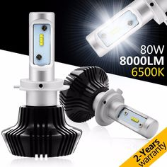 (55.93$)  Watch now - http://ai70g.worlditems.win/all/product.php?id=32782218258 - 7th Led Headlight Bulb Conversion Kit - H7 80W 8000Lm 6500K Cool White Led Car Headlight Bulbs 12V Replace for Halogen HID Bulbs