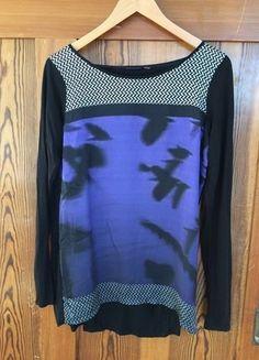 Kaufe meinen Artikel bei #Kleiderkreisel http://www.kleiderkreisel.de/damenmode/langarmlig/140367291-longshirt-von-mexx-mustermix-violett