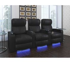 Or, instead of sectional: Octane Seating Series Turbo Theater Seating with Manual Recline At Home Movie Theater, Home Theater Rooms, Cinema Room, Theatre, Home Cinéma Klipsch, Interior Exterior, Interior Design, Vagina, Woman Cave