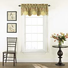 WAVERLY Valances for Windows - Swept Away x Short Curtain Valance Small Window Curtains Bathroom, Living Room and Kitchens, Berry Small Window Curtains, Short Curtains, Valance Curtains, Decorative Curtain Rods, Thing 1, Rod Pocket, Home Decor Outlet, Furniture Decor, Window Treatments