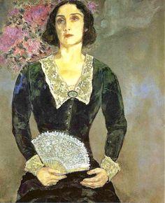 Marc Chagall ~ Bella en vert 1934                                                                                                                                                                                 More