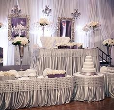 side shot of backdrop and head table at Pine Room Wedding | Wedding ...
