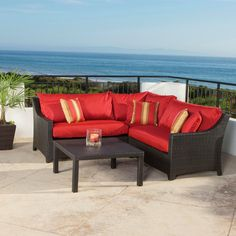 Enjoy the outdoors in style and comfort with this conversation set