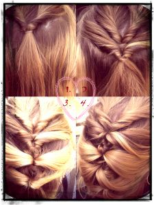 Topsy tail twisted hairstyle. #DIYhair
